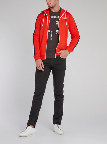 Orange Sleeve Stripe Active Jacket