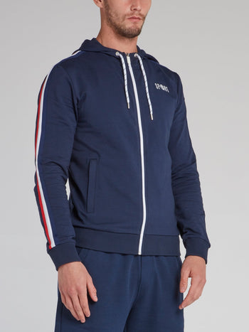 Navy Sleeve Stripe Active Jacket