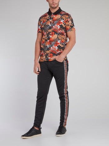 Tropical Print Polo Shirt
