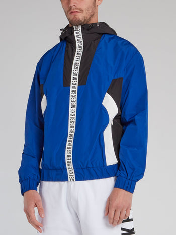 Blue Logo Tape Colour Block Jacket