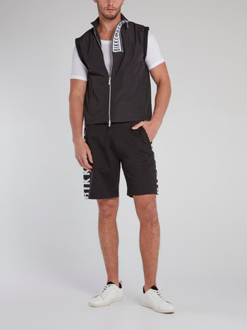 Black Zip Up Sleeveless Jacket