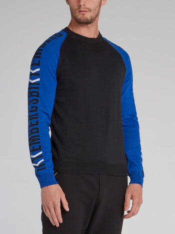 Raglan Logo Sleeve Sweater