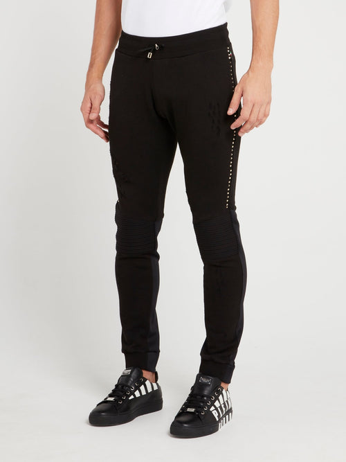 Black Knee Pad Jogging Trousers