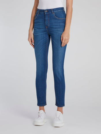 Blue Capri Denim Jeans