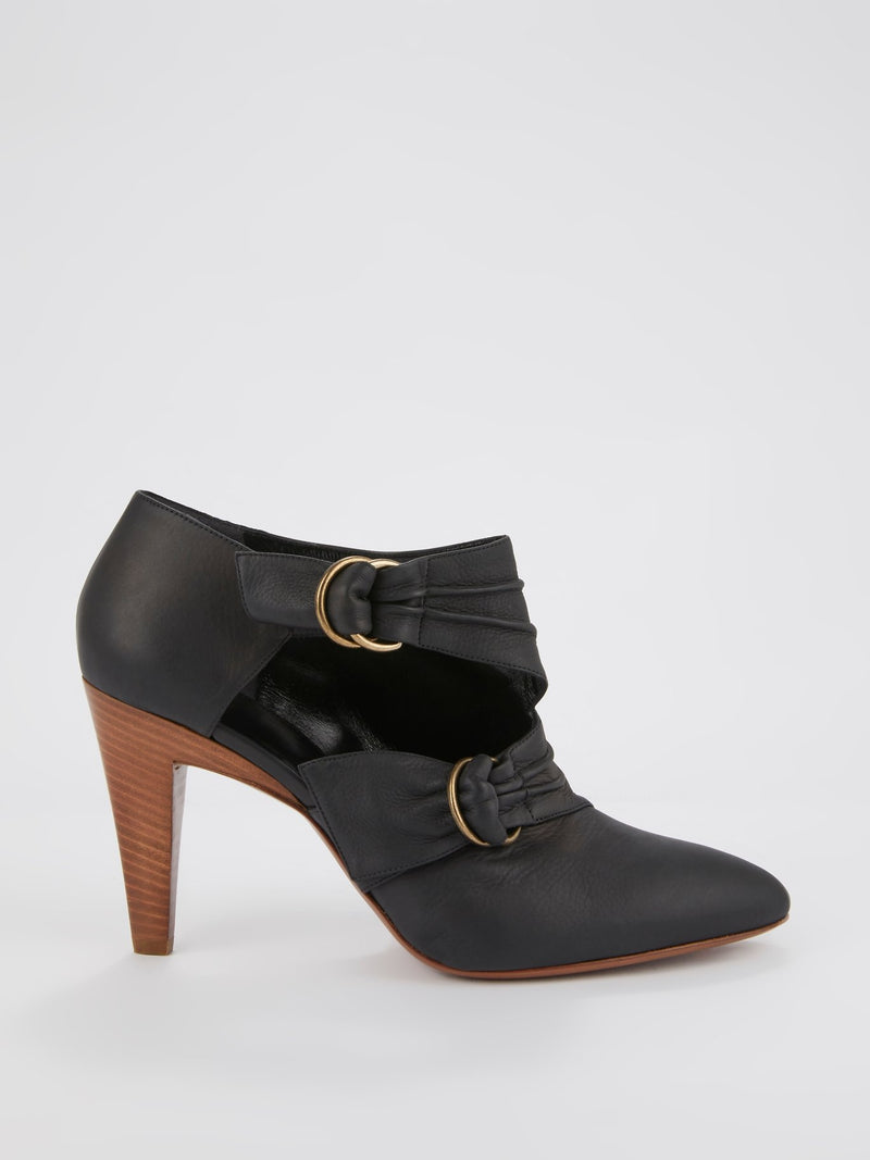 Black Multi-Strap Ankle Boots