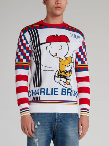 Charlie Brown Check Panel Knit Top