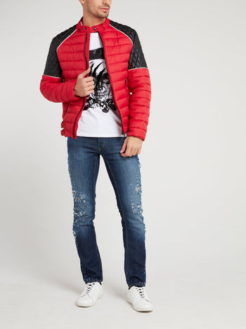 Red Quilted Sports Jacket