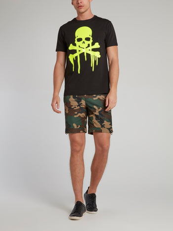 Black Dripping Skull T-Shirt