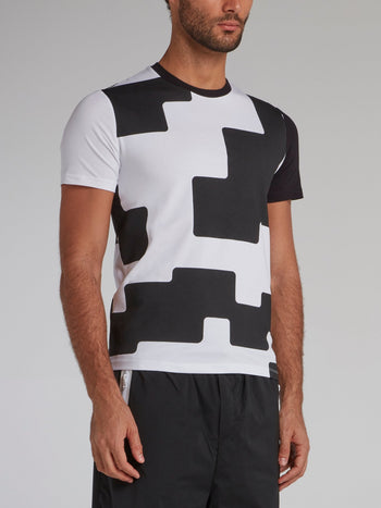 Two Tone Geometric T-Shirt
