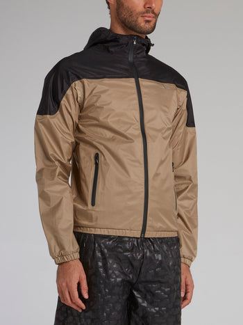 Brown Hooded Track Jacket