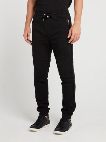 Black Drawstring Active Cotton Pants