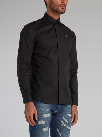 Black Rear Statement Shirt