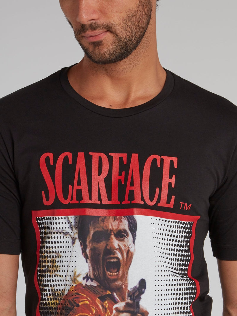 Scarface Black Graphic Print T-Shirt