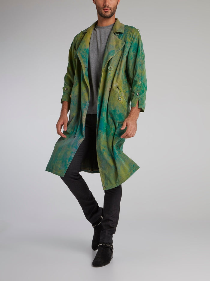 Green Vintage Trench Coat