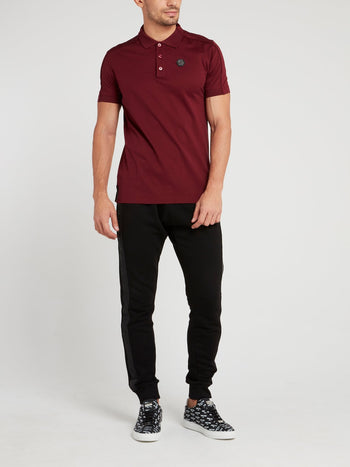 Burgundy Monogram Polo Shirt
