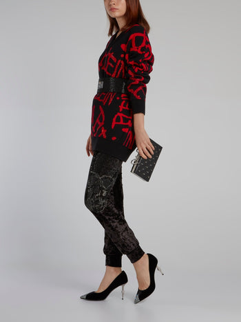 Sequin Statement Wool Pullover