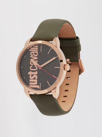 Forte Olive Strap Casual Watch