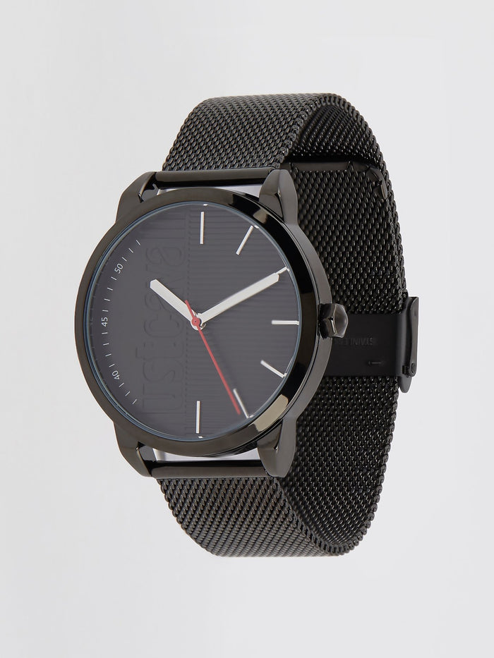 Forte Black Milanese Strap Analog Watch