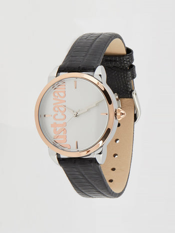 Tenue Black Leather Strap Watch
