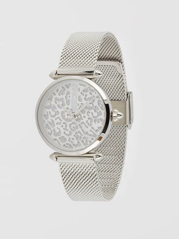 Orma Leopard Dial Siver Watch