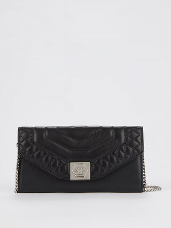 Black Leather Clutch Bag