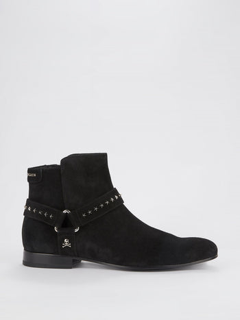 Black Star Studded Chelsea Boots