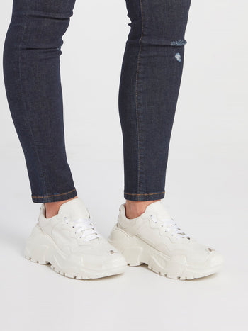 White Crystal Runner Sneakers