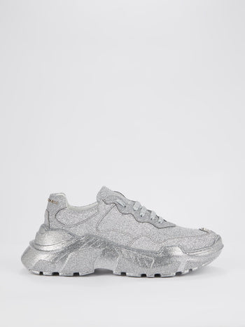 Metallic Crystal Runner Sneakers