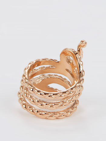Gold Snake Ring - Size 7
