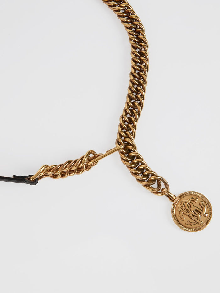 Gold Monogram Chain Belt