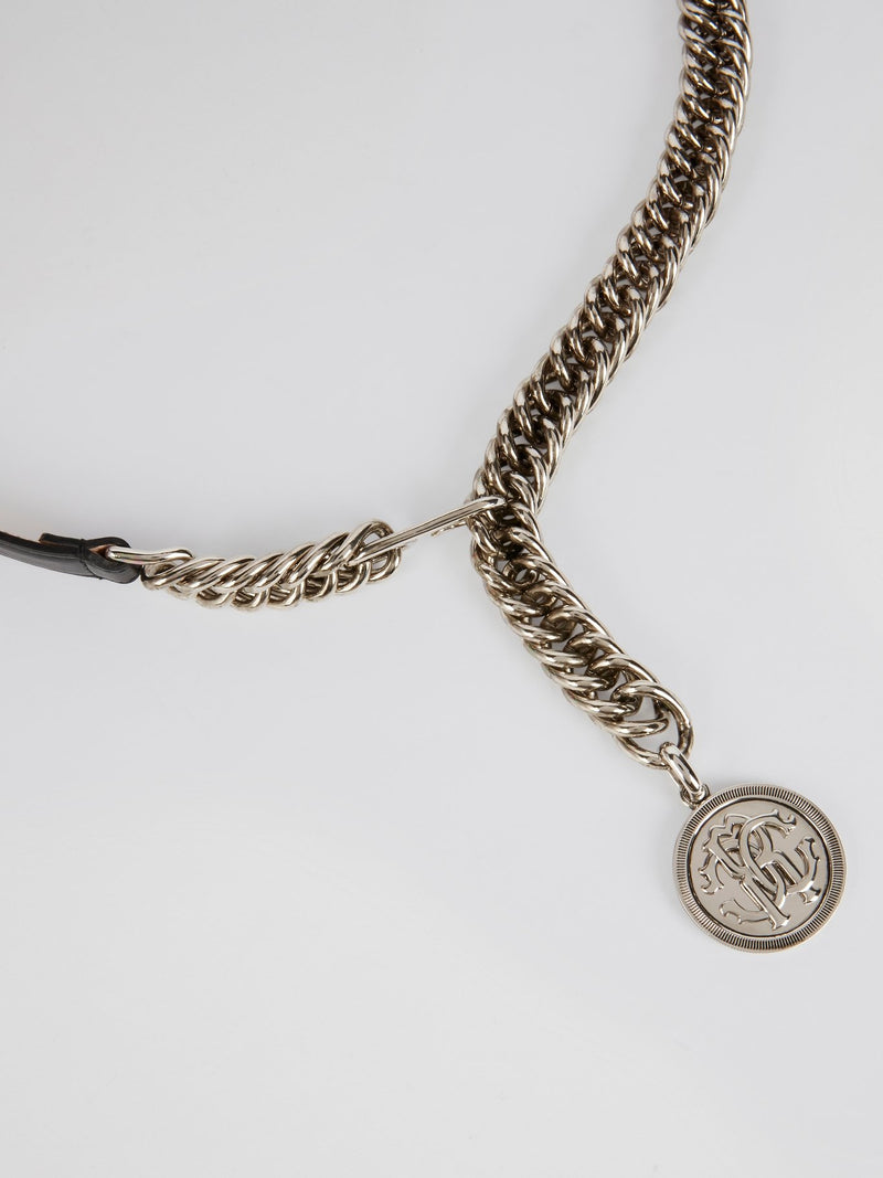 Silver Monogram Chain Belt