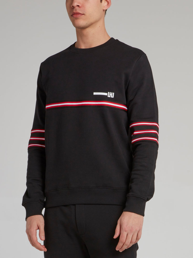 Black Tape Patch Sweatshirt