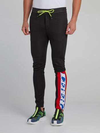 Black Rear Zip Detail Active Pants