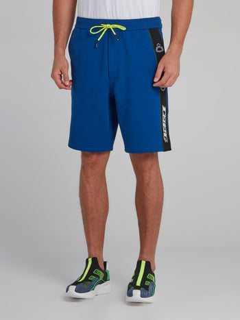 Blue Logo Tape Seam Shorts