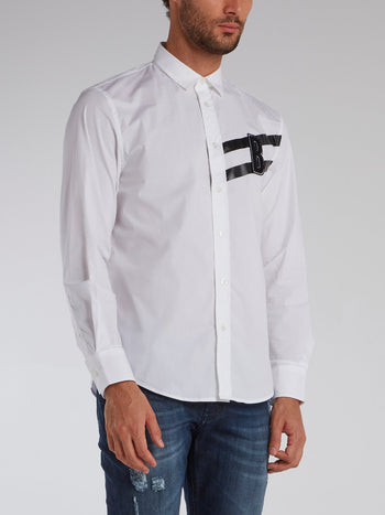 White Monogram Appliquéd Shirt