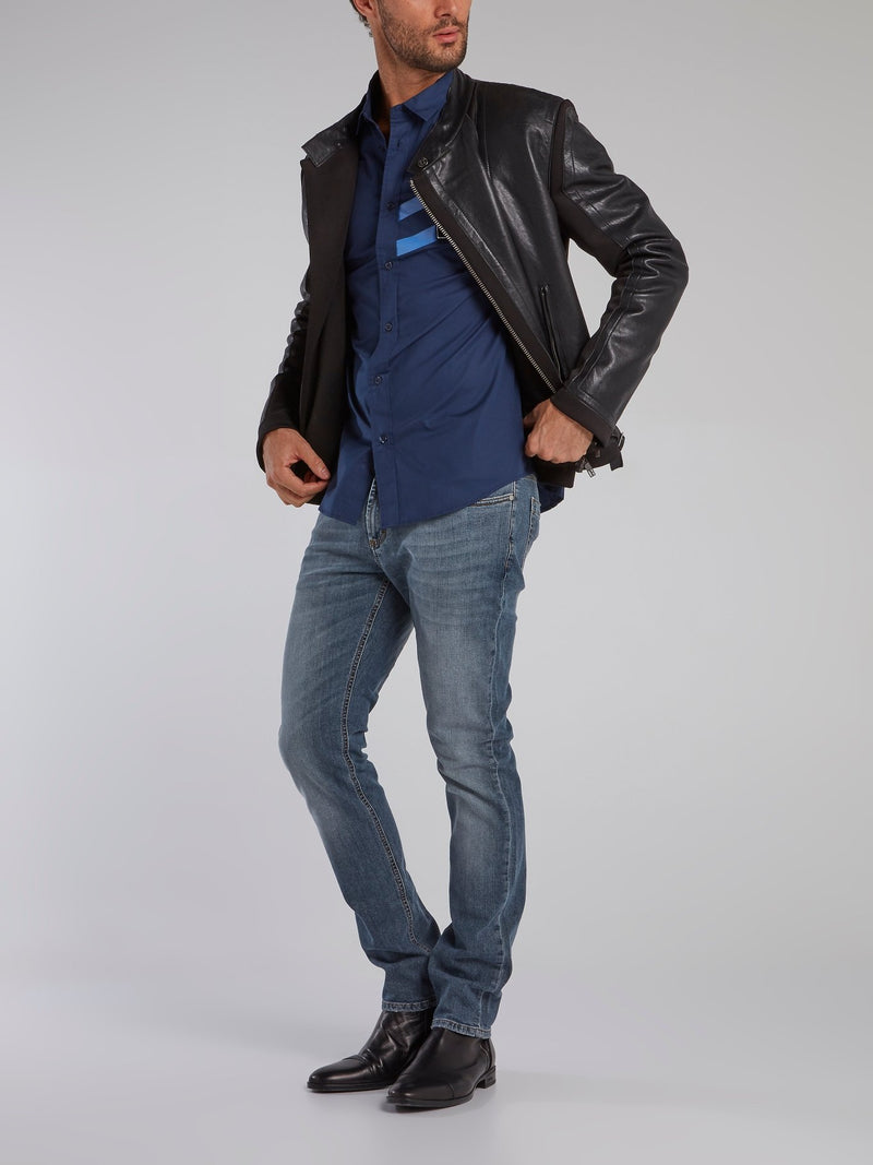 Blue Wash Slim Fit Jeans