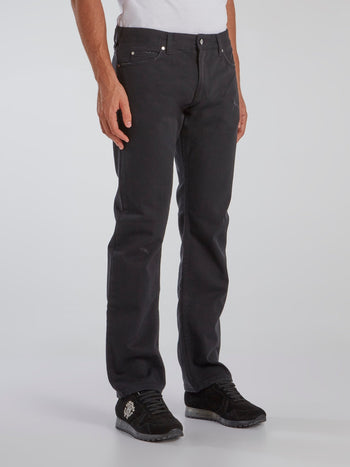 Charcoal Denim Tunnel Trousers