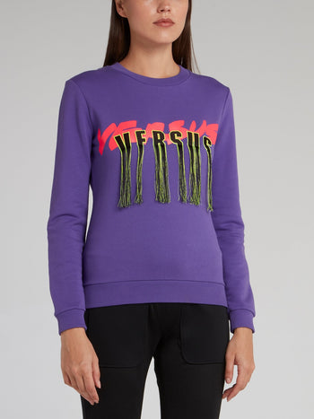 Purple Tasseled Logo Sweatshirt