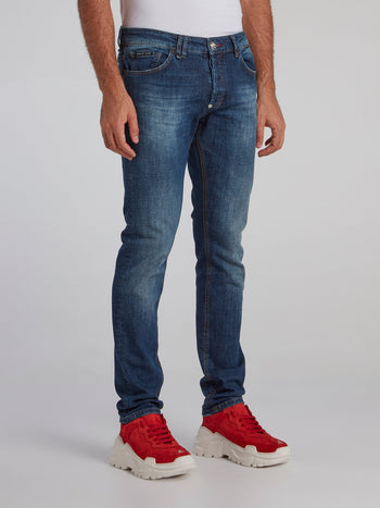 Navy Stone Wash Jeans