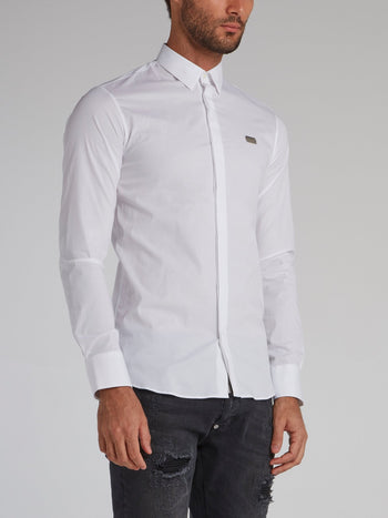 White Button Up Cotton Shirt