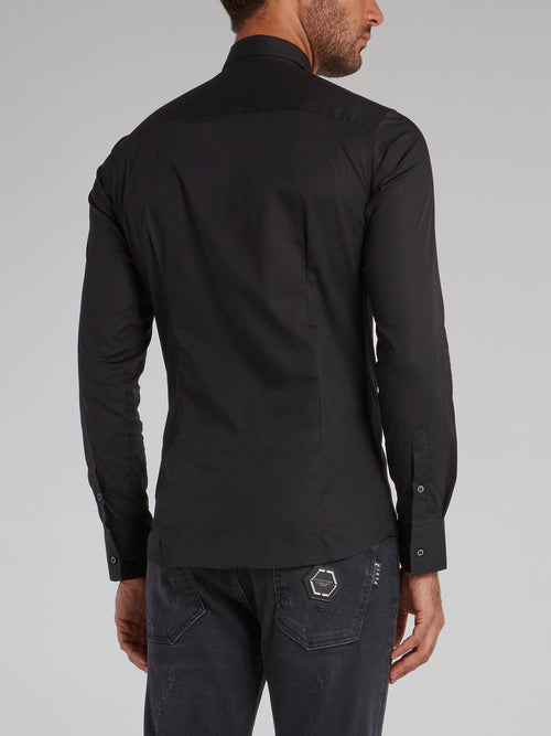 Black Button Up Cotton Shirt