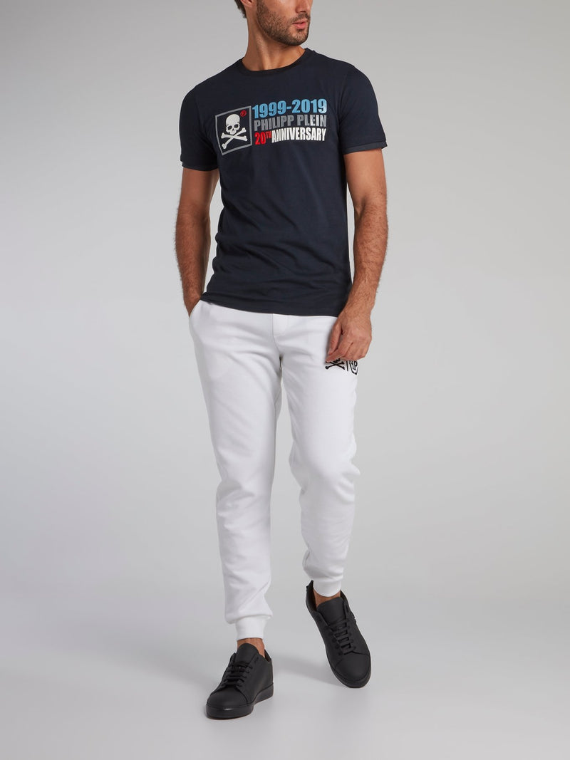 Navy Rubber Print Statement T-Shirt
