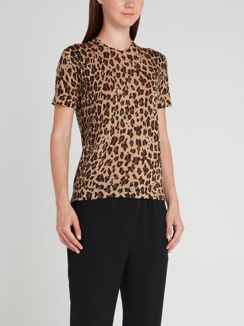 Leopard Print Wool Top