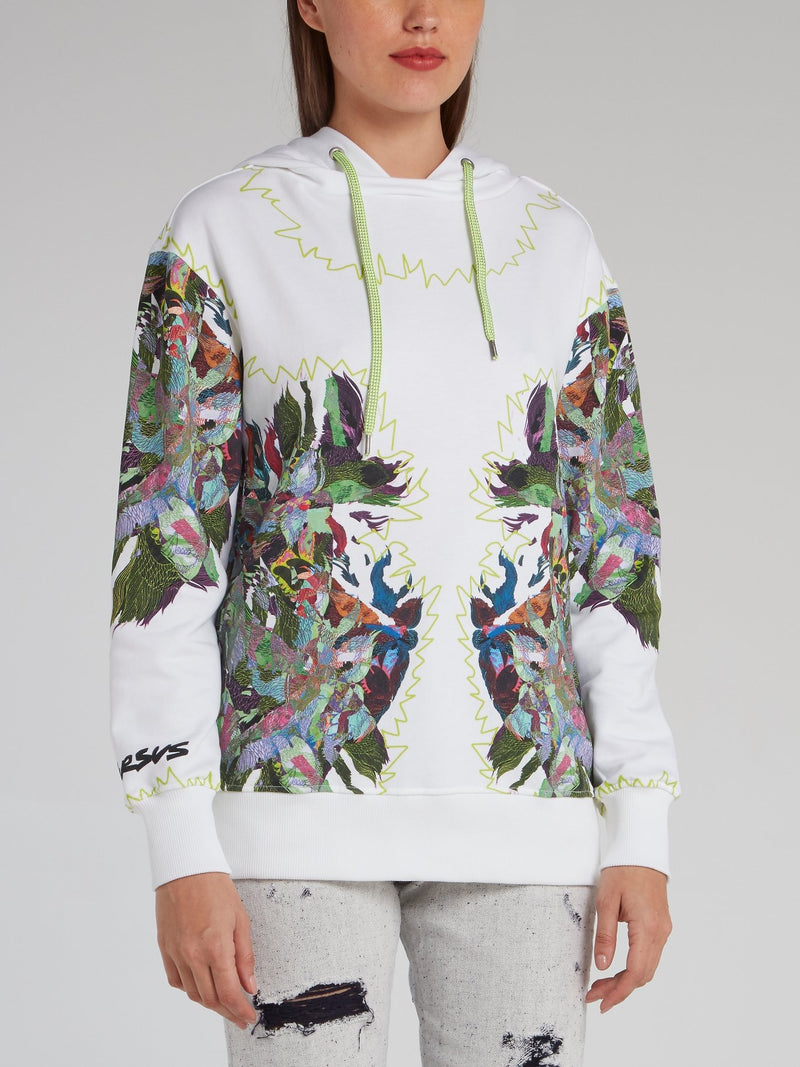 Abstract Print Panel Hoodie