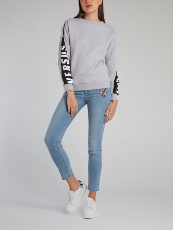 Grey Zip Sleeve Sweatshirt