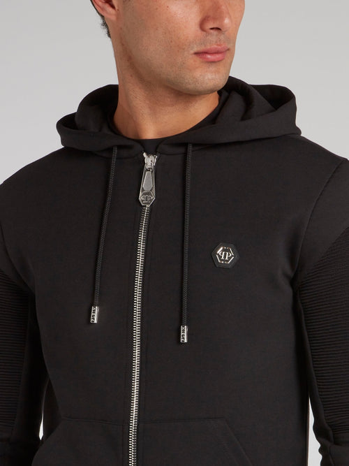 Black Zip Up Sweat Jacket