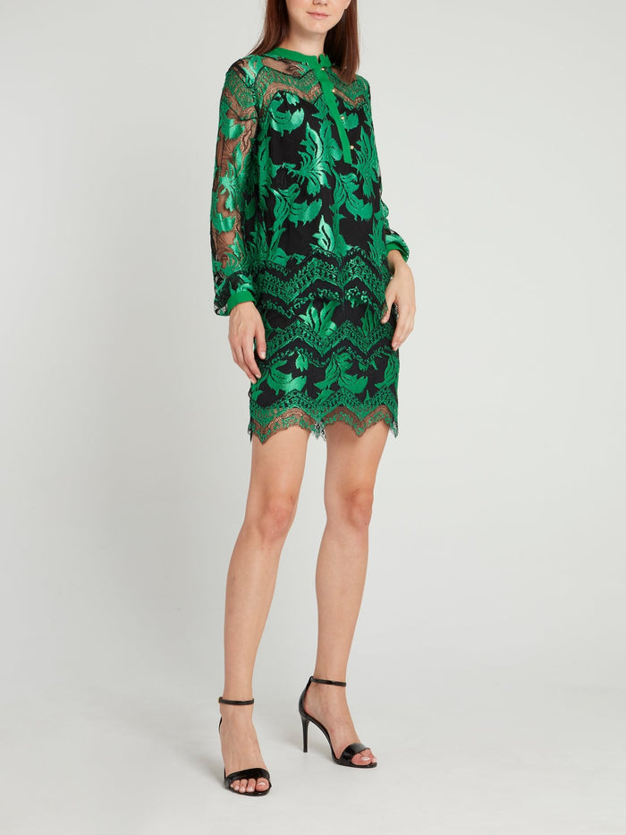 Green Lace Overly Skirt