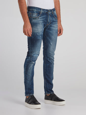 Marcial Dark Wash Distressed Jeans