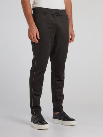 Fleet Black Logo Jogging Trousers
