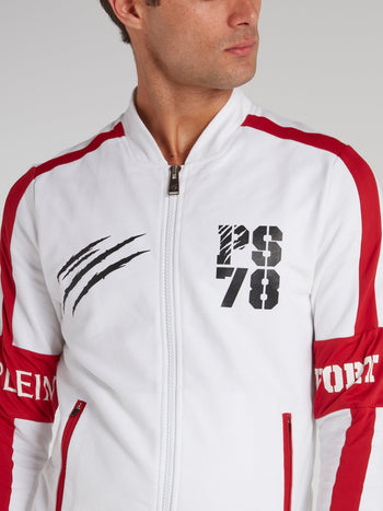 Sirio White Contrast Jogging Jacket